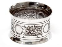 Victorian John Round Boxed Pair of Silver Convex Shaped Napkin Rings (2 of 4)