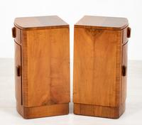 Pretty Pair of Walnut Art Deco Bedside Cabinets (3 of 7)