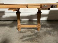 Huge Bleached Oak French Extending Dining Table (24 of 24)