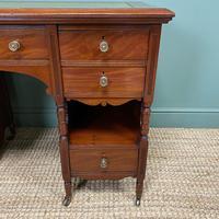 Small Victorian Walnut Antique Writing Desk (3 of 5)