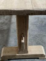 Primitive French Bleached Oak Farmhouse Dining Table (2 of 20)