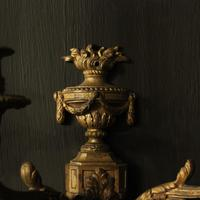 French Pair of Bronze Gilded Antique Wall Sconces (6 of 10)