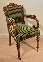 William IV Carved Oak Armchair (2 of 5)
