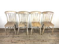 Set of Four Antique Farmhouse Kitchen Chairs (2 of 15)