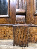 19th Century Antique Oak Breakfront Glazed Bookcase (10 of 15)
