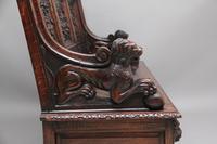 Superb Quality 19th Century Oak Box Settle (10 of 16)