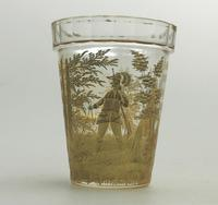 An Extremely Rare & Exceptional St Hubert Gilt Glass Beaker C.18th/early 19thc (6 of 10)