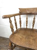 19th Century Beech and Elm Smoker's Bow Chair (9 of 12)