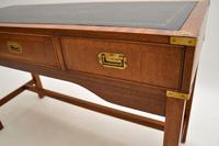Antique Military Campaign Style Mahogany Writing Table / Desk (8 of 12)