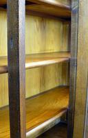 Oak 3 Door 1930s Vintage Bookcase with Keys (18 of 22)