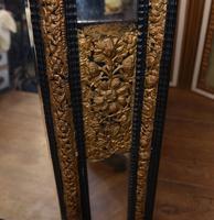 Antique French Cushion Mirror Metal Mounts Circa 1880 (9 of 11)