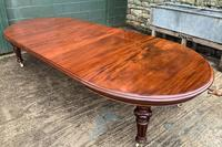 Super Quality Victorian Mahogany Extending Dining Table Seats 14 (12 of 18)