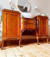 French Antique Style Washstand / Vanity / Cupboard With Basin Sink (6 of 8)