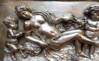 Silvered on Copper Wall Putti Plaque (10 of 12)