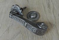 Genuine Victorian Aesthetic Movement  Cast Iron Door Knocker Registered Number for 1887 (4 of 7)