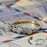 The Vintage Old Brilliant Cut Five Diamond Ring