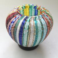 Museum Quality Very Fine Gino Cenedese Murano Vetri Textured Vase - Mid 20th Century (5 of 11)