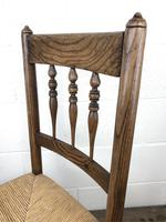 Antique Ash & Elm Rocking Chair with Rush Seat (7 of 12)
