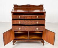 Burr Walnut Serpentine Chest / Cabinet (7 of 9)