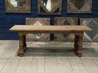 Deep Bleached Oak French Farmhouse Dining Table (3 of 20)