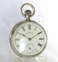 Antique Silver Waltham Bond St Pocket Watch (2 of 5)