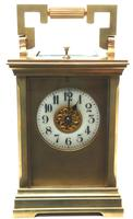 Superb Large Antique French 8-day Striking Carriage Repeat Feature Clock c.1880 (2 of 13)