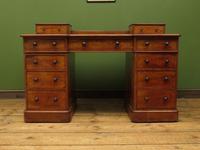 Antique Satin Birch Pedestal Desk by Heal & Sons (7 of 21)