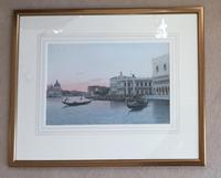 Eugenio Benvenuti Watercolour ' Venice at Dusk' (2 of 2)
