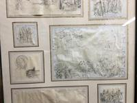Decorative Collection of 18th Century Sketches (6 of 9)