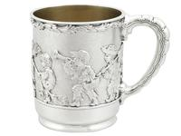 American Sterling Silver Christening Mug by Tiffany & Co - Antique 1879 (4 of 12)