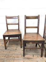 Four 19th Century Oak Back Bar Chairs (6 of 10)