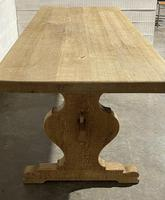 Bleached Oak French Trestle End Farmhouse Dining Table (28 of 28)