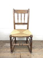 Antique Ash & Elm Rocking Chair with Rush Seat (5 of 12)