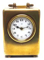 Antique Travelling Miniature Carriage Clock – Wonderful Dial Alarm Feature by Junghans (4 of 6)