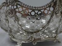 Pair of Antique Victorian Silver Baskets - London 1882 (6 of 8)