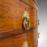 Antique Bow Front Chest of Drawers, English, Mahogany, Tallboy, Victorian, 1870 (12 of 12)