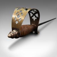 Antique Sword Poker, English, Oak, Brass, Steel, Fireside Tool, Edwardian, 1910 (10 of 12)