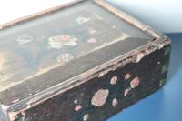 Scandinavian / Swedish 'Folk Art' Original Paint Rosmålning, Desk Timplåda / Sliding Lidded Box Gustavian, 1806 (10 of 16)