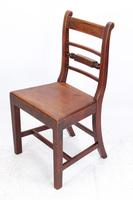 Set of 4 Victorian Mahogany Kitchen Chairs (3 of 13)