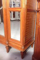 Breakfront Satinwood Armoire (6 of 11)