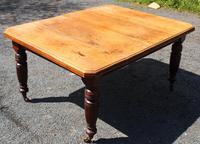 1920's Mahogany Dining Table with 2 x Leaves and Handle (2 of 6)