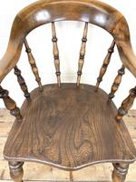 Antique 19th Century Smoker's Bow Chair (3 of 9)