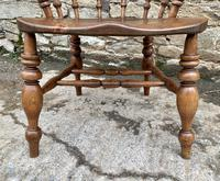 Antique Elm Captains Chair Smokers Bow (13 of 13)