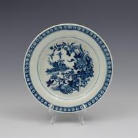 First Period Worcester Porcelain Butter Tub & Stand The Fence Pattern c.1770 (4 of 9)