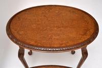 Antique Burr Walnut Nest of Three Tables (6 of 10)