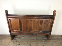 Antique Victorian Pitch Pine Curved Back Pew or Settle (9 of 16)