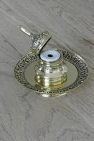 Fine 19th Century Brass Inkwell in the Bright Pavilion Style (3 of 7)