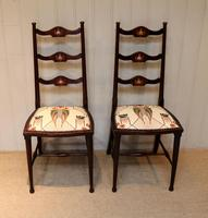 Pair of Beechwood Art Nouveau Chairs (8 of 10)