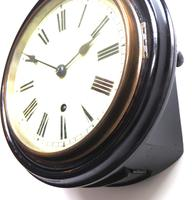 Rare W&H 7 Inch Dial Wall Clock Ebonised Case Dial Clock Station Clock (9 of 12)
