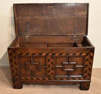 17th Century Oak Geometric Oak Coffer (2 of 8)